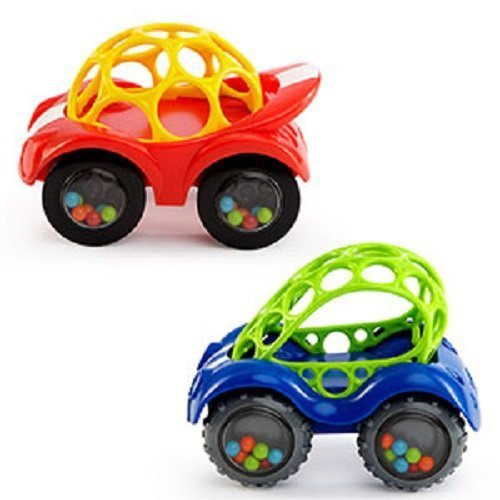 Oball Rattle and Roll Car (Single Car, Colors May Vary) by Mary Meyer