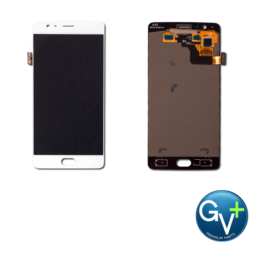 OEM Touch Screen Digitizer and AMOLED for OnePlus 3T - White