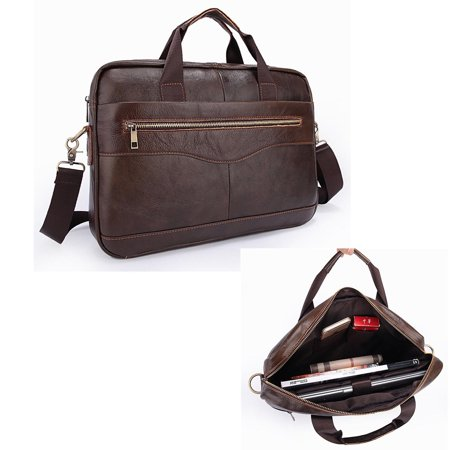 Genuine Leather Briefcase Business Laptop Messenger Bag For Men Handbag