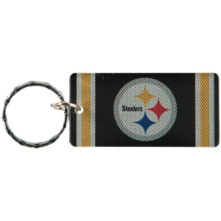 Pittsburgh Steelers Jersey Printed Acrylic Team Color Logo Keychain - No Size