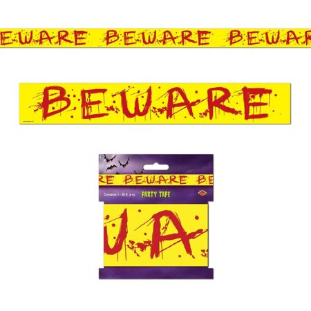 Beware Party Tape Halloween Decoration - Ideas For Halloween Party Decorations