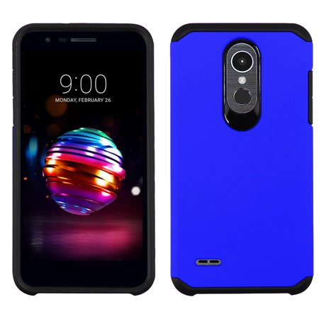 Atronoot Hybrid LG K30 Case with Dual Layer Rubberized Soft Feel Hard Shell Silicone Shock-Proof Protection for LG K30 X410TK (T-Mobile) - Blue