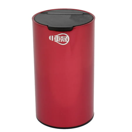 - Portable Aluminum Smokeless Cylinder Shaped Ashtray for Car, Red