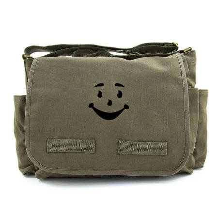 Kool Aid Man Name (Kool Aid Man Face Army Heavyweight Canvas Messenger Shoulder)
