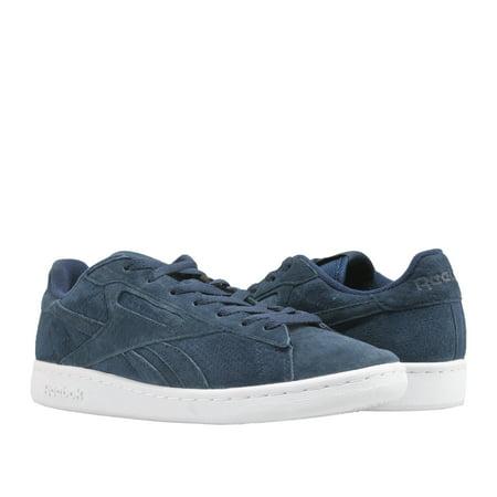 af4e6469cf4b1 Reebok - Reebok Classic NPC UK Perf Navy Hunter Grey Men s Tennis Shoes  BD2969 - Walmart.com