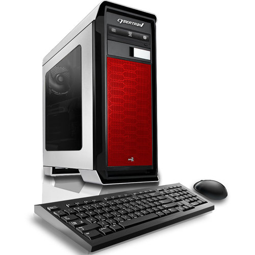 CybertronPC Red Rhodium R7 Desktop PC with AMD FX-6300 Hexa-Core Processor, 16GB Memory, 2TB Hard Drive and Windows 10 Home (Monitor Not Included)