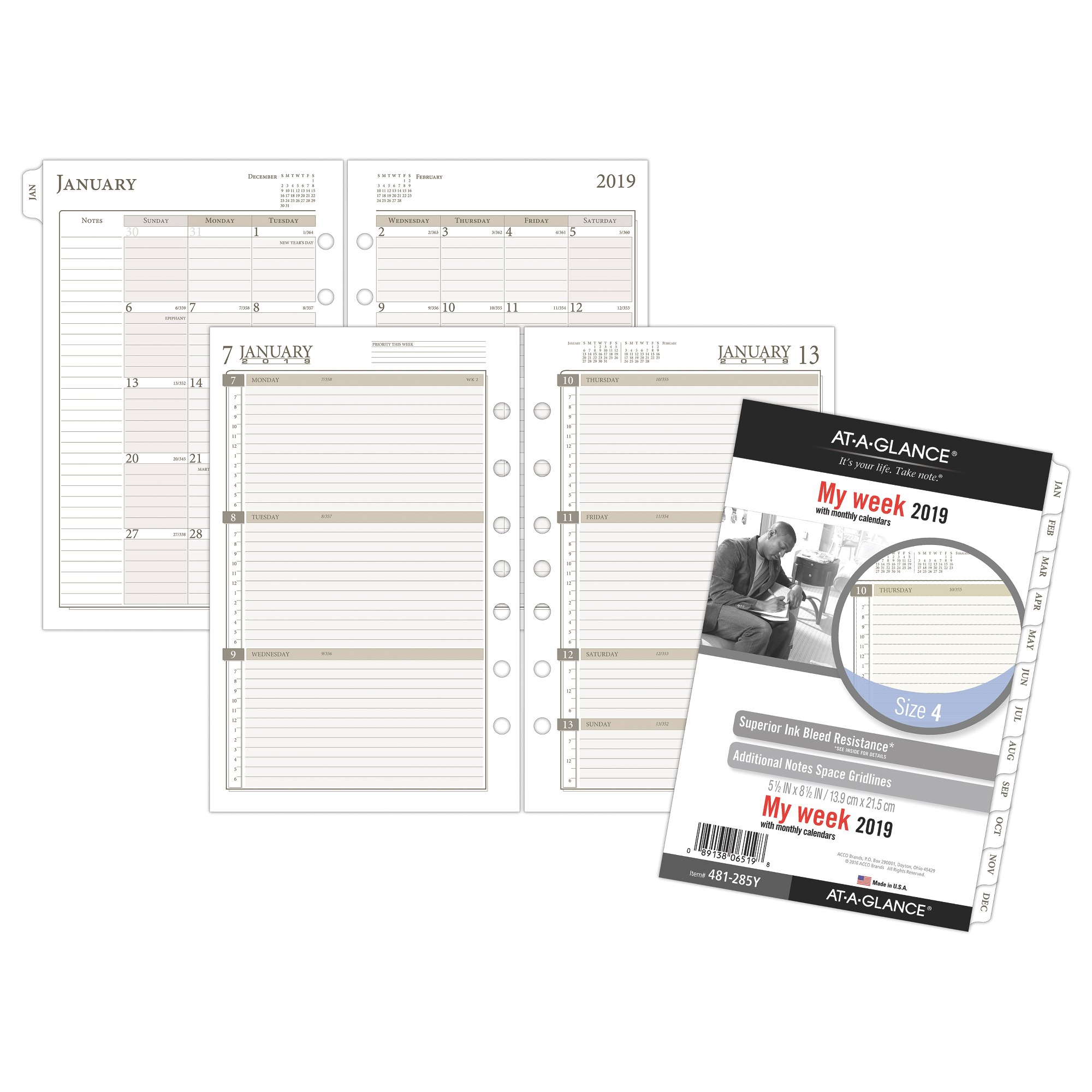 At-A-Glance Day Runner Weekly Planner Refill Size 4 Weekly Planner Refills by AT-A-GLANCE Day Runner