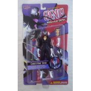 """Christine Spar 8"""" Figure Matt Wagner's Grendel Millennium Series Graphitti Designs, Includes Forked Staff, Grappling Hook and Rope By Dark Horse Comics From USA"""
