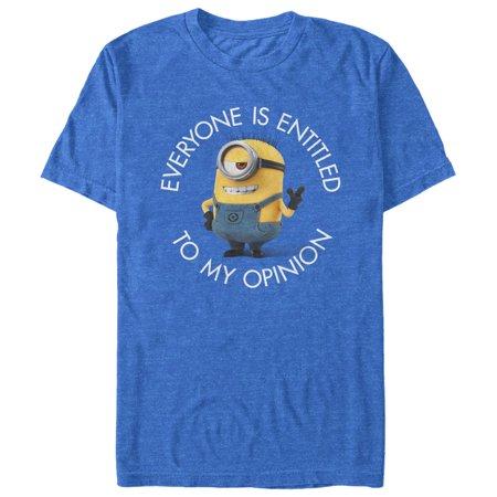 Despicable Me Men's Minion My Opinion T-Shirt - Purple Minion Name