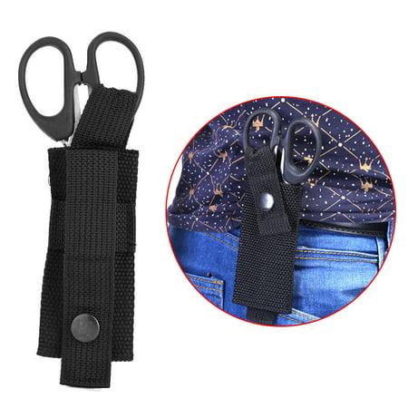 WALFRONT 1pc Black Nylon Military Medical Scissors Sheath Durable Key-chain Shears Pouch Bag Holder , Scissors Pouch, Shear