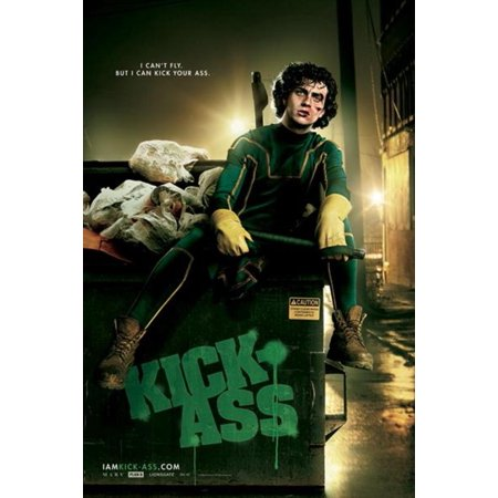 Kick Ass I Cant Fly Dave Lizewski Comic Book Superhero Movie Poster   24X36 Inch