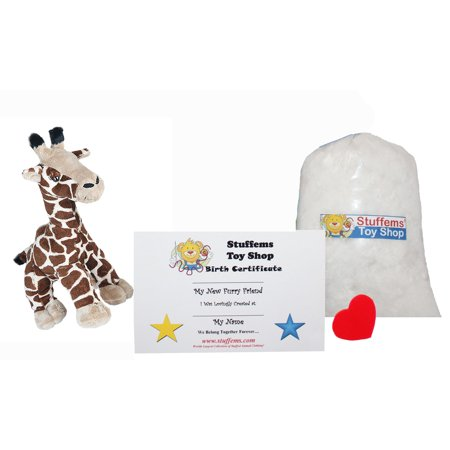 Make Your Own Stuffed Animal Mini 8 Inch Gerry the Giraffe Kit - No Sewing Required!