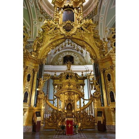 The Alter of the Peter and Paul Cathedral in St. Petersburg, Russia Print Wall Art By Dennis (Peter And Paul Cathedral St Petersburg Russia)