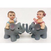 Gender Reveal Baby Shower Girl-Boy Favors On Baby Elephant Decoration