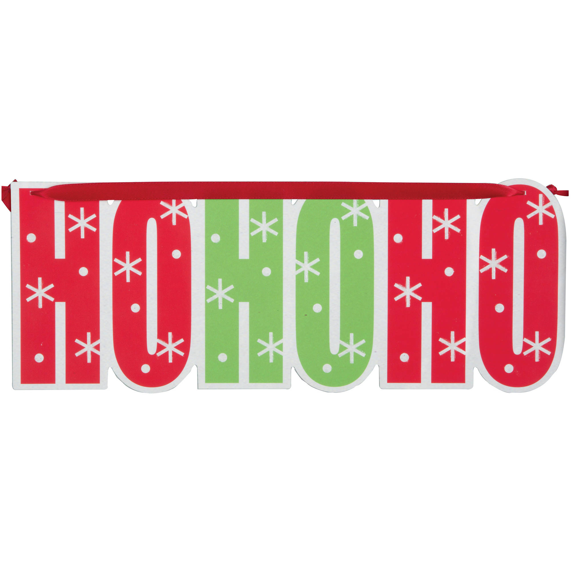 Hanging Ho Ho Ho Sign Christmas Decoration