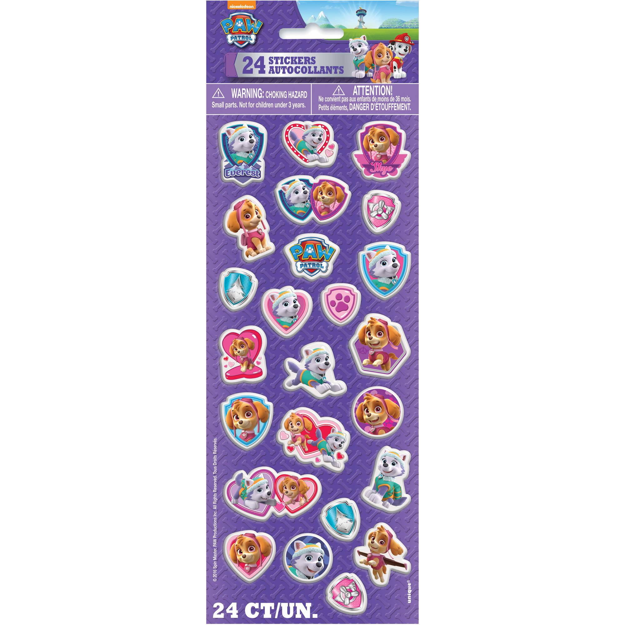 Skye PAW Patrol Puffy Sticker Sheet, 1ct