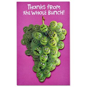18x24 giant retirement card places you will go female walmart american greetings funny grapeful thank you card with attachment m4hsunfo Gallery