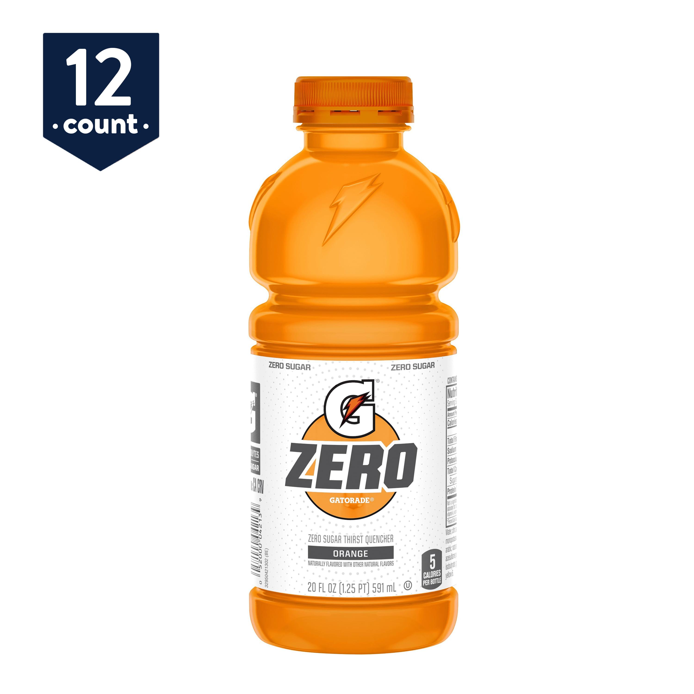 Gatorade Zero Sugar Thirst Quencher, Orange, 20 oz Bottles, 12 Count