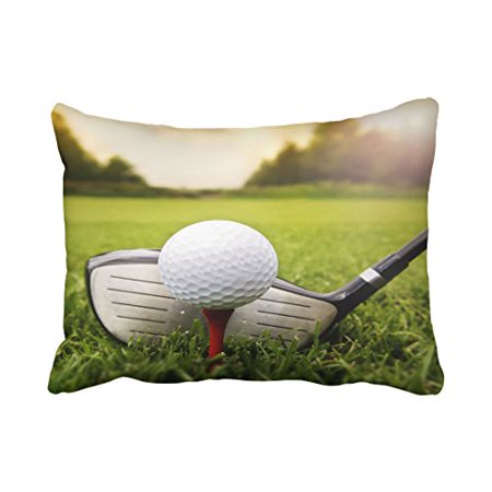 WinHome Decorative Fashion Golf Ball on the Green Grass Pillow Case You Perfect Idea Size 20x30 inches Two - Golf Decorating Ideas