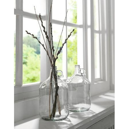 One Gallon Decorative Glass Jug Vase Bottle With Handle