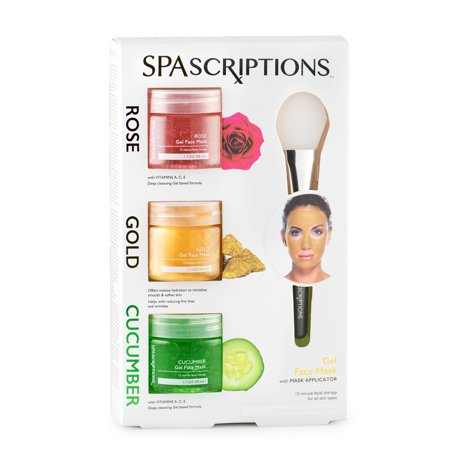 Spascriptions Rose, Gold & Cucumber Gel Face Mask