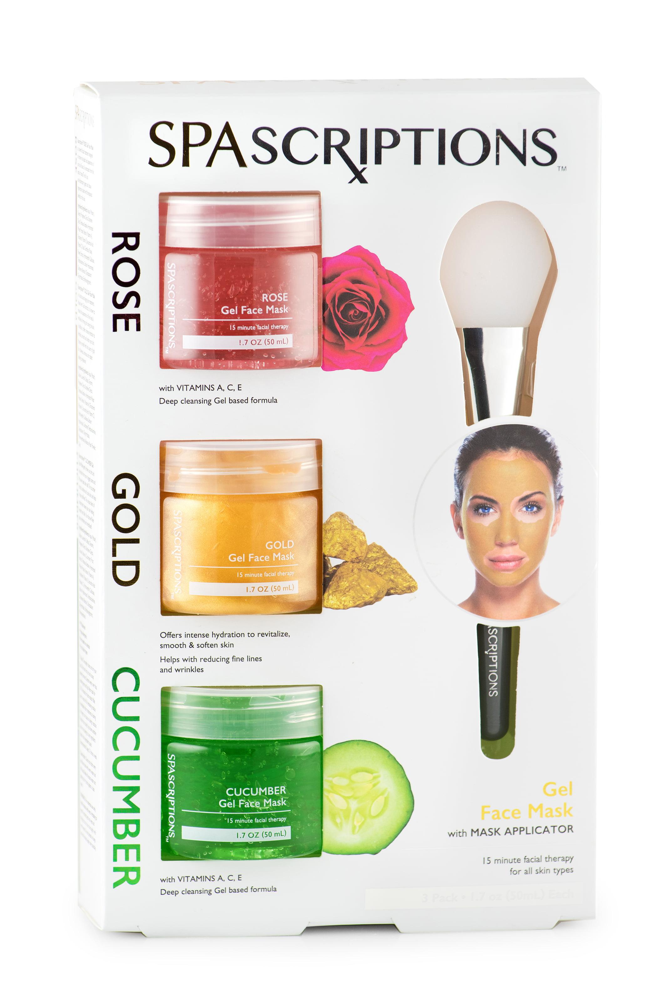 Spascriptions Gesichtsmaske mit Rose, Gold und Gurke
