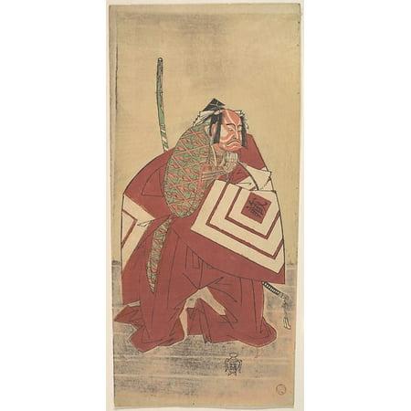 The Actor Ichikawa Danzo Iii As A Court Noble Poster Print By Katsukawa Shunsho  Japanese 1726   1792   18 X 24