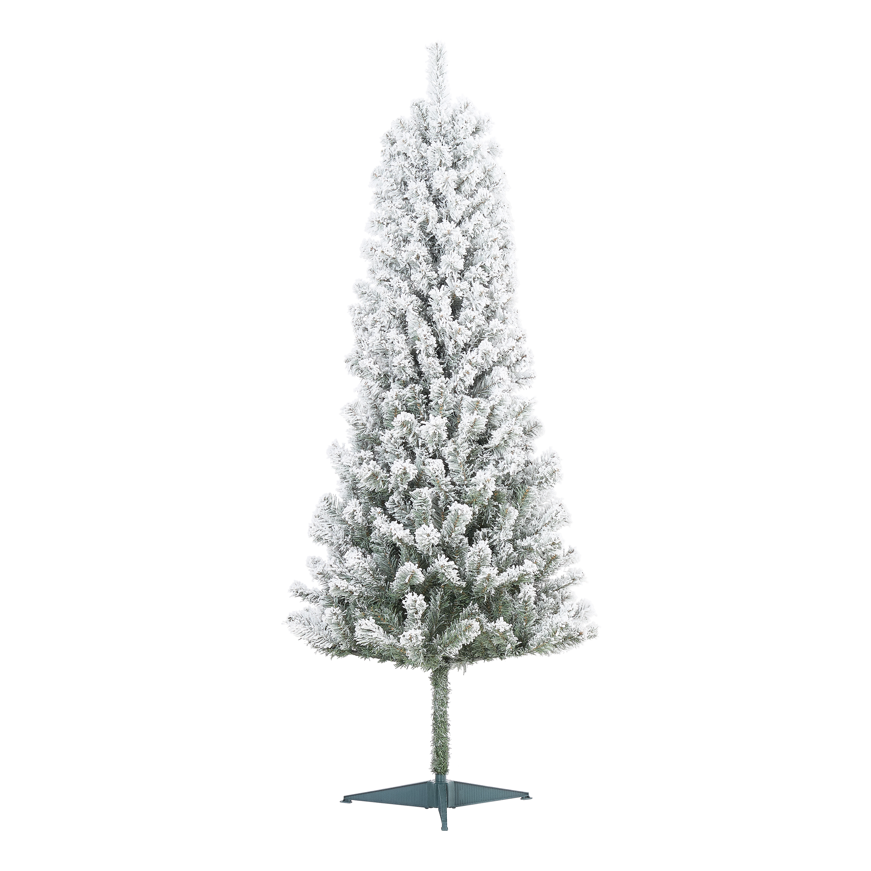 Holiday Time Un Lit Snow Flocked Pine Artificial Christmas Tree 6 White Walmart Com Walmart Com