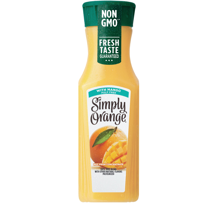 Simply Orange Juice with Mango, 11.5 fl oz