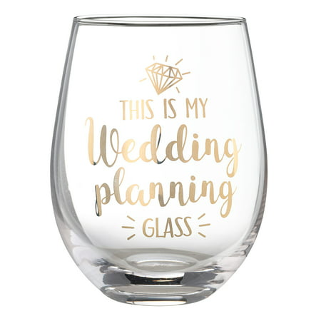 Lillian Rose Bride to Be Wedding Planning 18 oz Stemless Wine Glass