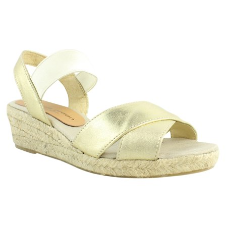 Patricia Green Womens  Gold Espadrille Sandals Size 7 New