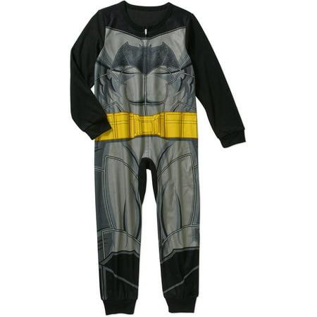 DC Comics Boys' Licensed Poly Blanket Sleeper - Batman Onsie