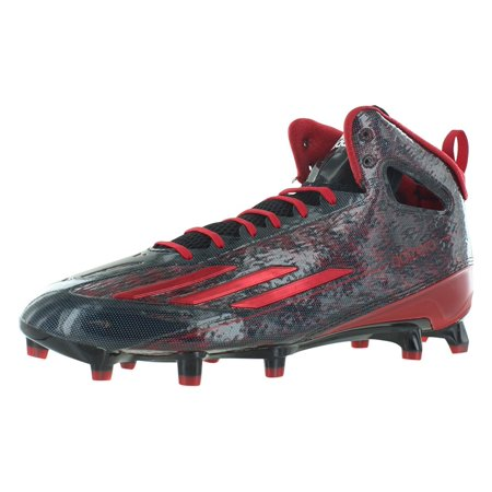 best sneakers 226a4 34bae Adidas Adizero 5Star 4.0 Mid Mens Football Cleats 11 Black-White-Power Red