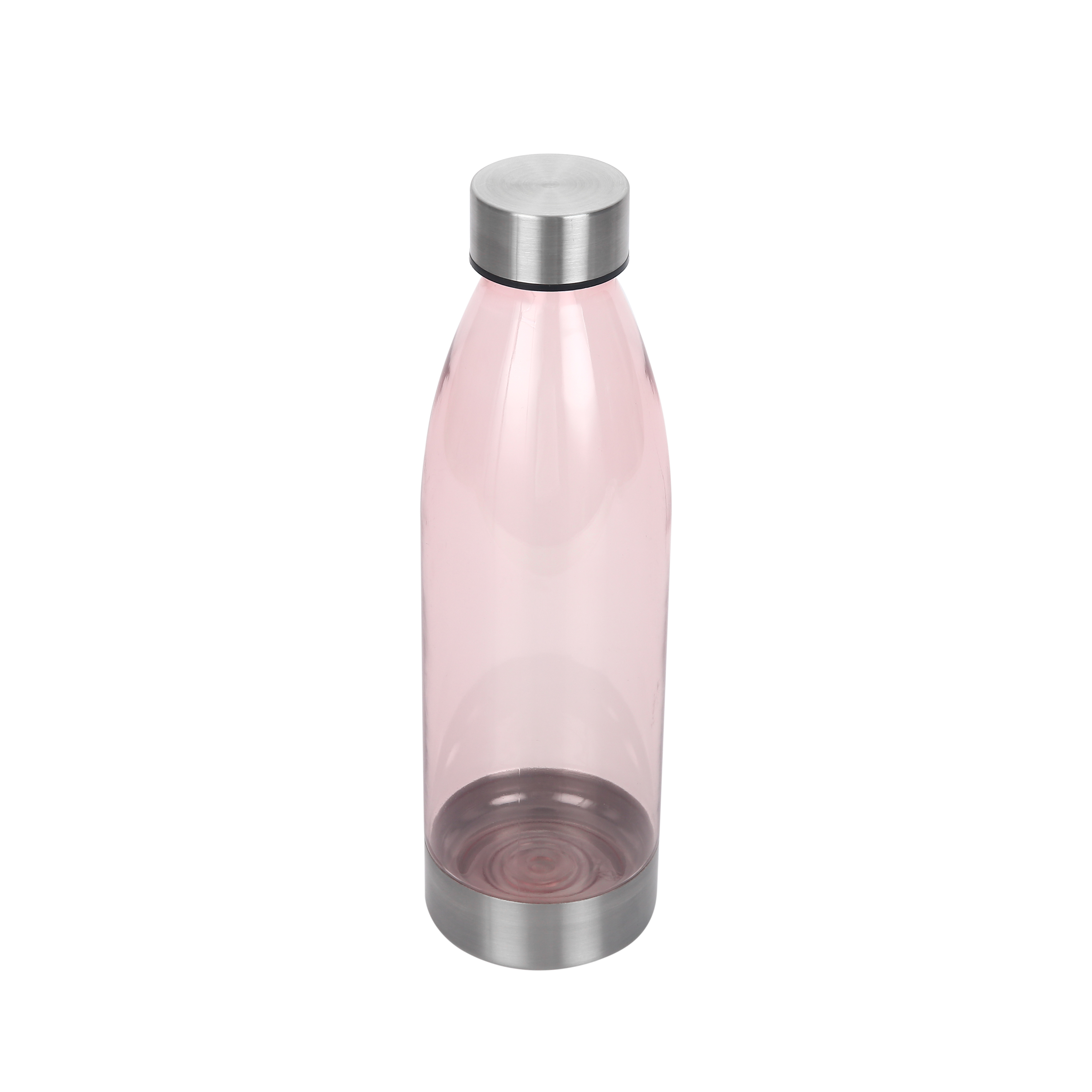 Mainstays 22 Ounce Water Bottle with Stainless Steel Lid and Base – Pearl Blush
