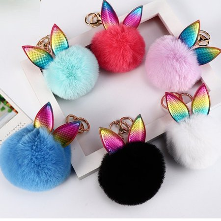 Plush Toys Hanging Cute Bag Furry Hanging Animals Cute Plush Keychains Hair Ball Keychains Pendant Bag Accessories - image 3 of 5