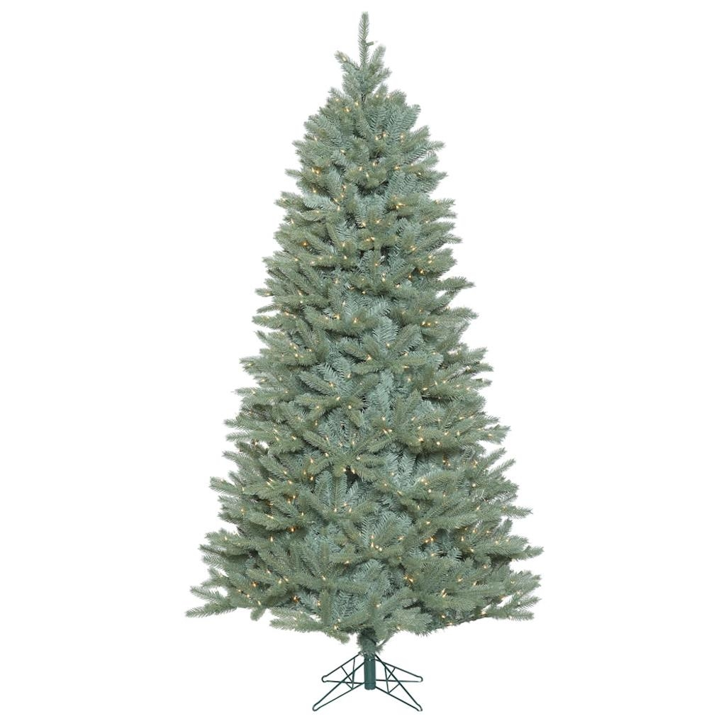 "Vickerman 408223 - 12' x 80"" Colorado Blue Spruce Tree with 2,000 Clear Lights Christmas Tree (A164591)"