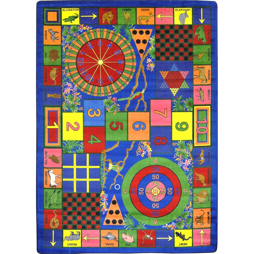 "Joy Carpets Kid Essentials - Active Play & Juvenile Teacher's Pet, 10'9"" x 13'2"", Multicolored"