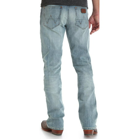 Indigo Striped Jeans - Wrangler Men's Indigo Retro Slim Fit Jeans Boot Cut - 77Mwzbr