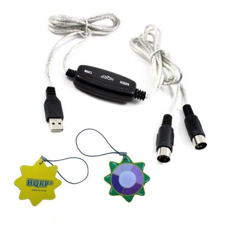 HQRP USB IN-OUT MIDI Interface Cable Converter PC to Music Keyboard Adapter Cord for Alesis Q61 61-Key USB/MIDI Keyboard Controller plus HQRP UV (Best Interface For Reaper)