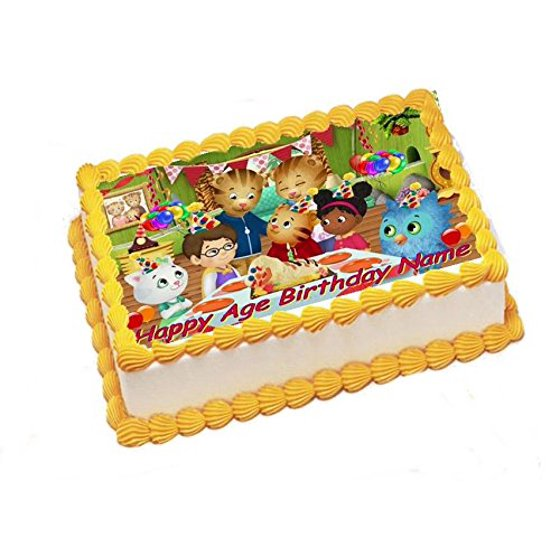 Daniel Tiger Edible Image Sheets Cake Toppers (Frosting Sheet ...