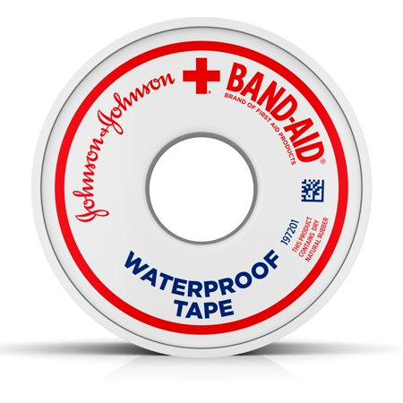 4 Compress Bandage (Band-Aid Brand of First Aid Products Waterproof Tape to Secure Bandages, 1 Inch by 10)