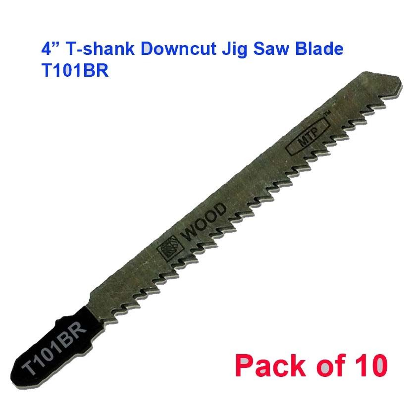 "MTP ® Pack Of 10 T101D 4"" 100mm T-shank Straight / Plunge Cutting Jig Saw Blades  Fit Bosch Makita 101D T-101D"