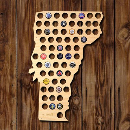 Home Wet Bar Vermont Beer Cap Map Wall D cor