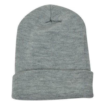 Arcteryx Toque - Heather Grey Blank Plain Solid Mens Knit Beanie Cuffed Skully Thick Winter Toque