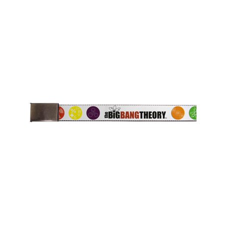 big bang theory tv series science emblems web belt