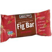 Nature's Bakery Raspberry Stone Ground Whole Wheat Fig Bar, 2 oz, (Pack of 12)