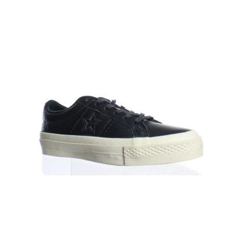 Converse Black Leather (Converse Womens Black Fashion Sneaker Size)