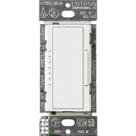 Lutron MA-600-WH Maestro 600-watt Multi-Location/Single Pole Digital Fade Dimmer, White