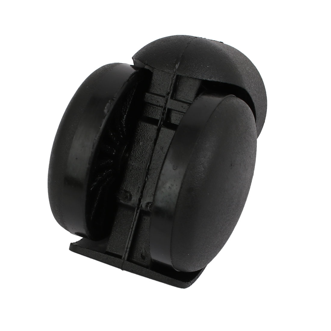 Unique Bargains 50mm Diameter Wheel 11mm Shaft Dia Non-Brake Swiveling Caster Roller Black - image 1 de 2