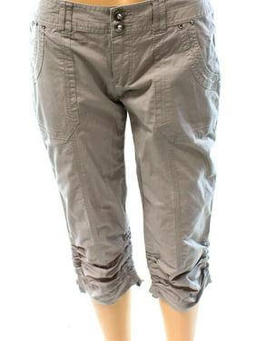 8066acb746dc3 Product Image INC NEW Sky Gray Womens Size 2 Capri Curvy Fit Ruched Hem Cargo  Pants